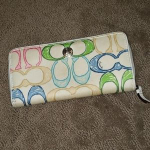 Colorful coach wallet